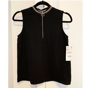 Zara Top With Zipper on Front
